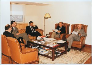 Meeting with minister of Education, Augusto Santos Silva (June 2001)