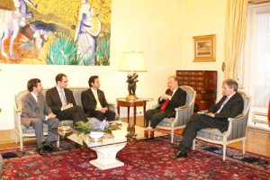 Meeting with the President of the Portuguese  Republic, Jorge Sampaio (May 2004)