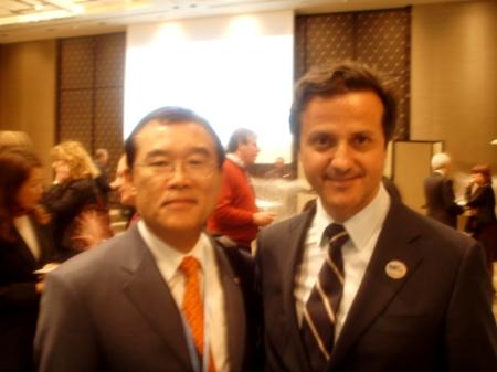 Soo-Ku Lee, President of the Korean Dental Association, and I