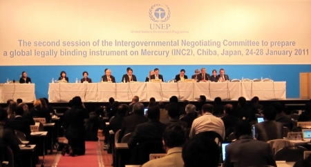 Second session of the Intergovernmental Negotiating Commmittee to prepare a global legally binding instrument on Mercury (INC2), Chiba, Japan, 24-28 January 2011