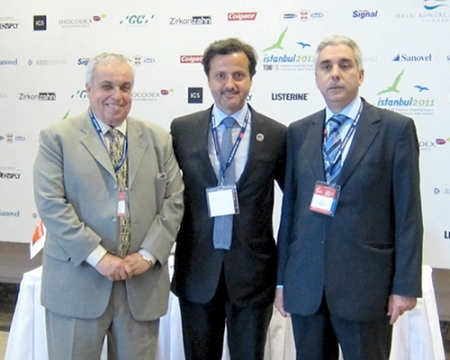Dr. Tarek Abbas Hassan (president of Egyptian Dental Association) and Dr. Ghassan Yared (president Liban Dental Association)