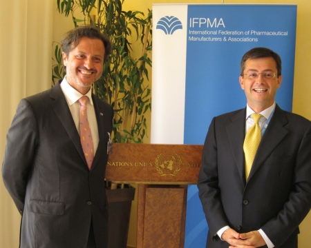 With Eduardo Pisani, Director General of IFPMA, International Federation of Pharmaceutical Manufacturers & Associations