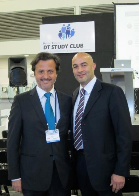 With Torsten Olsen, from the International Dental Tribune