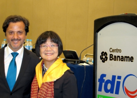 With the FDI president-elect, TC Wong, from Hong Kong