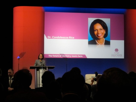 Dr. Condoleeza rice, distinguished speaker at the Oppening Session, gave a wonderful speech regarding the political economical moment we are living in the US and at a global level.