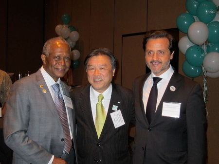 With Ray Gist and Makoto Nakao, CEO from the GC Corporation.