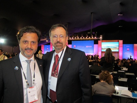 With José Gomes do Amaral, president-elect of the World Medical Association.
