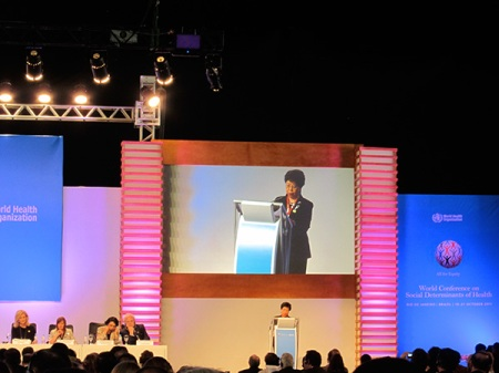 Dr. Margaret Chan, World Health Organization (WHO) director-general, addressing to the Assembly.