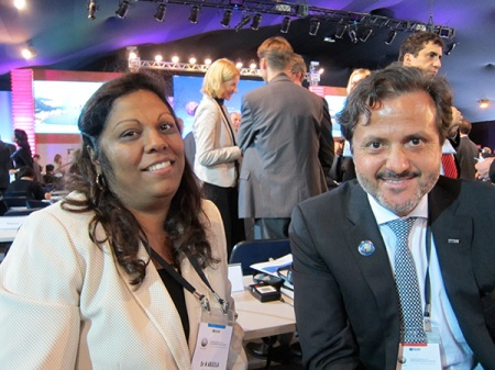 With Dr. Nazira Vali Abdula, vice-minister of Health from the Republic of Mozambique.
