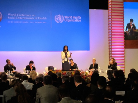 Day two, overview of social determinants of health, previous day and today's events, by the BBC World journalist Zeinab Badawi.