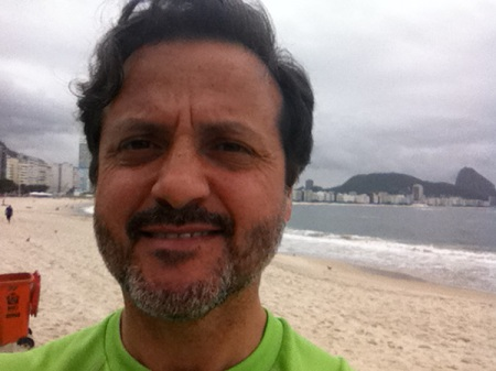 And my usual jogging in on of the few breaks... At the seaside of Copacabana...