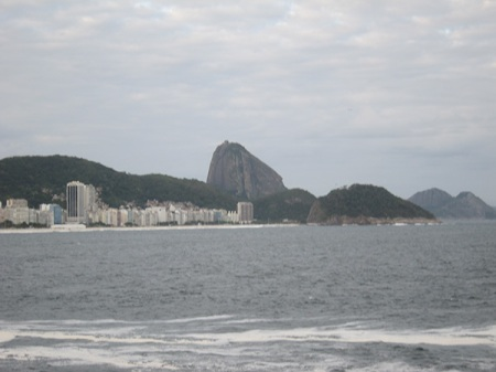 A view from Forte de Copacabana.