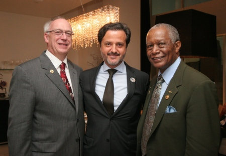 With William Calnon (left), ADA president, and Raymond Gist, former ADA president.