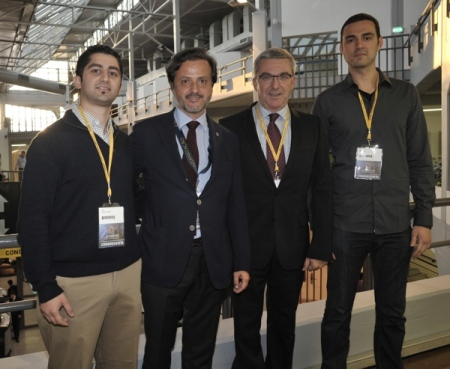 With Babak Sayahpour (left), Jean-Luc Eisele and Marko Gvero