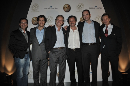 With Portuguese colleagues, from left to right: João Dias, José Rosa, Nuno Montezuma, João Braga and João Caramês