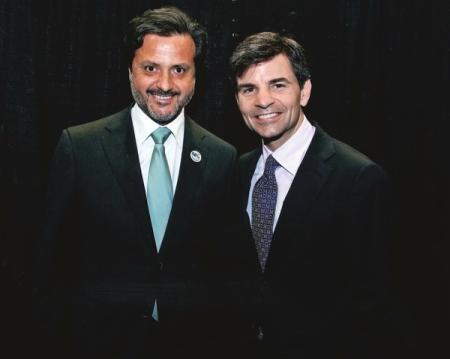 Orlando Monteiro da Silva and George Stephanopoulos