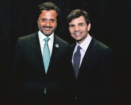 Orlando Monteiro da Silva and George Stephanopoulos
