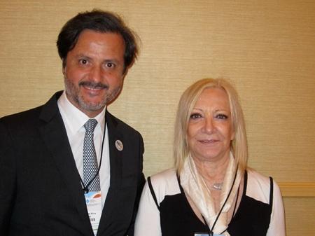 With Ana Haydee Pereira, FDI programme director - Latin America