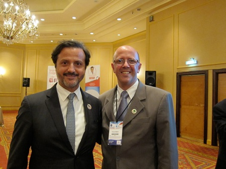 "With Gilberto Pucca, responsible of the public oral health program ""Brasil Sorridente"""