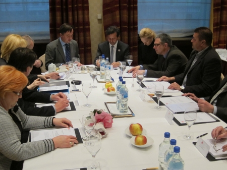 Troika meeting with the board of the Croatia Dental Chamber and representatives of the Bosnia Herzegovina and Slovenia.