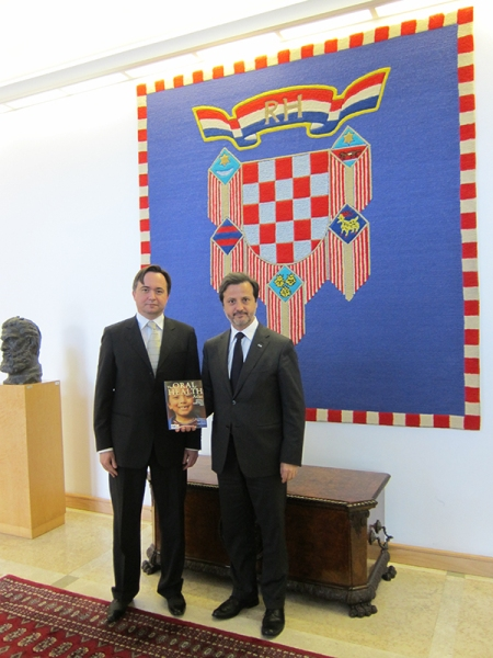 At the Presidential Palace with Hrvoje Pezo before the meeting.