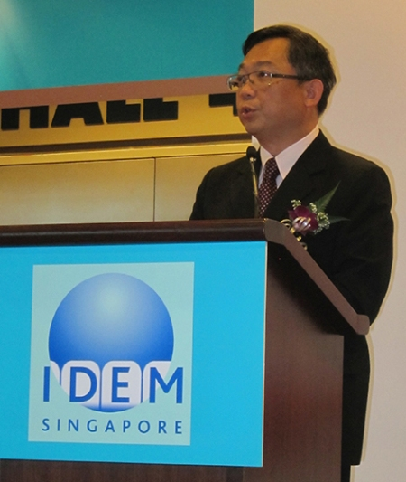 Singapore Ministry of Health, Gan Kim Yong, addressing at the opening. My speech is below.