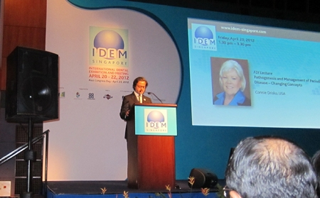 "I was moderator of the ""FDI Lecture: Pathogenesis and Management of Periodontal Disease – Changing Concepts"" by Connie Drisko, from USA."