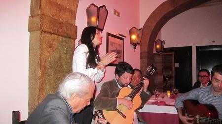 Fado singer Cuca Roseta ended the night.