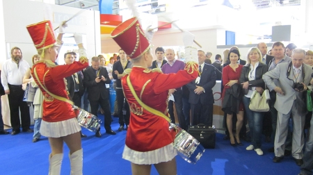 Official opening of Moscow DentalExpo, at Crocus-Expo.