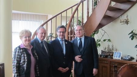 At Russia Dental Industry headoffice. From left, Ludmila Maximovskaya, Vladimir Vagner, Me and Iosif Bochjovskiy, president of Russian Dental Industry.