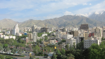 A view from Esteghlal Hotel.