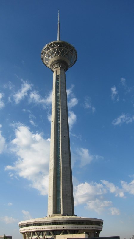 Milad Tower, the tallest tower in Iran.