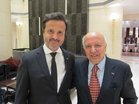 With Jafar Dadmanesh, former IDA president.