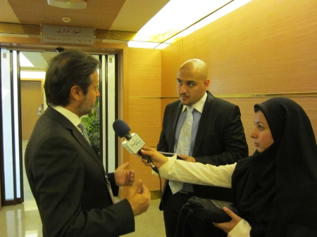 Interview with local media with the precious translations of Amir Hashem Shahidi Bonjar.