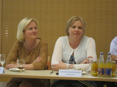 On the left, Nerija Stasiulienė, Head of Departament of Justice.