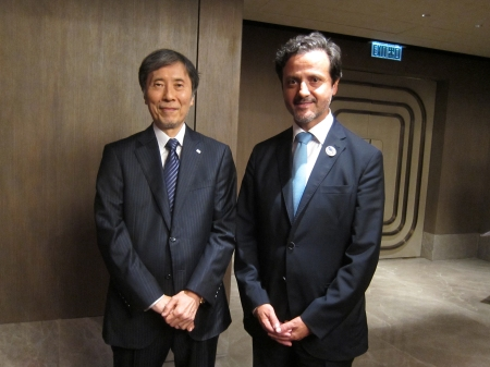 With Mitsuo Okubo, president of the Japan Dental Association.
