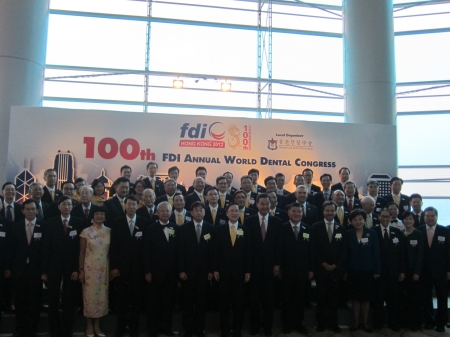 Group photo with local authorities, FDI officers and local organizing committee before the ceremony.