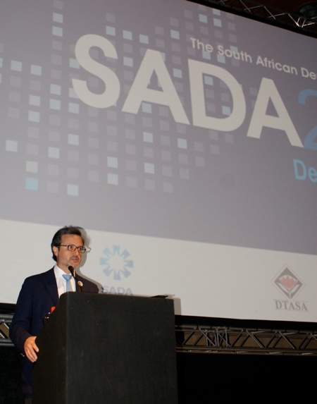 "Addressing at SADA, South African 2012 Congress - ""Dental dignity for all""."