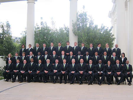 Another group photo from Springboks Rugby Team, from South Africa (by coincidence, sharing the summit hotel).