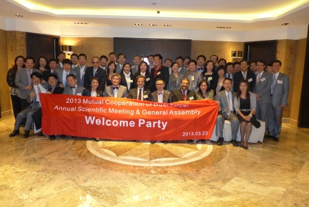 Welcome party group photo.