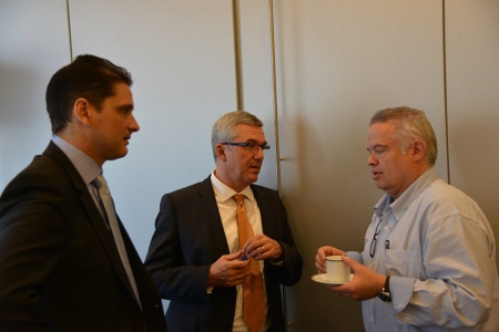 Emmanuel Chevron (associate director for Business Development & Corporate Relations), Jean-Luc Eiselé (FDI executive director) and Jaime Edelson (FDI councillor).