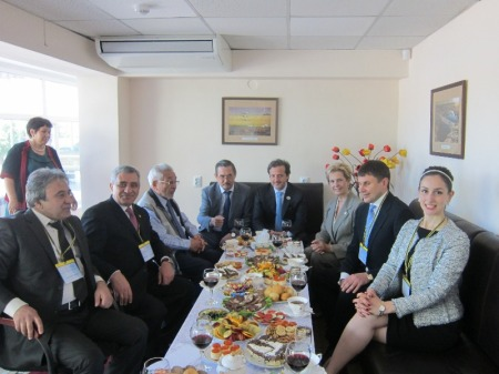 Meeting with the KazNMU academic council.