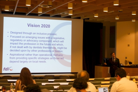 "The theme of my address was ""Vision 2020 – Shaping the future of oral health""."