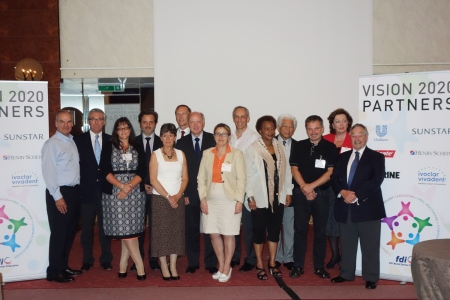 Group photo of the Oral Health Indicators Meeting Provisional Agenda.