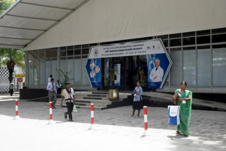 Entrance of the congress centre.