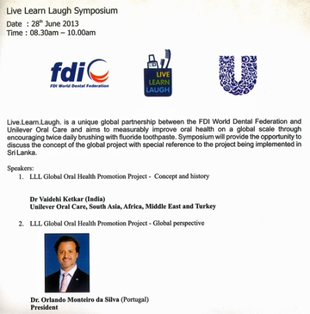 Live, Learn and Laugh Symposium lecturing: LLL Global Health promotion Project-Global perspective.